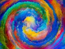 Digital liv av färger Arkivfoto