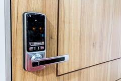Digital lock for door Stock Photo