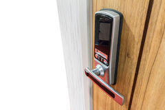Digital lock for door Royalty Free Stock Image