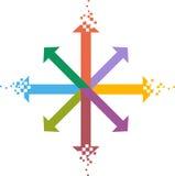 Digital logo. Concept has been created as vector Royalty Free Stock Photos