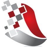Digital logo. Concept has been created as vector Stock Image