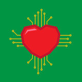 Digital Love logo. Heart for Digital Love logo design Royalty Free Stock Image