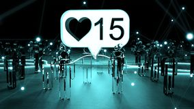 Digital lubi iluminować grupy ludzi 3D rendering Zdjęcia Stock