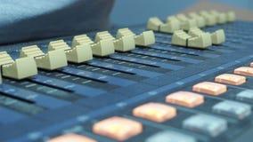Bureau de mélange de studio d enregistrement sonore banque de