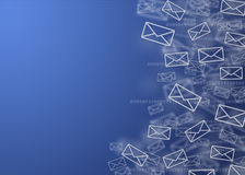 Digital mail background Stock Image