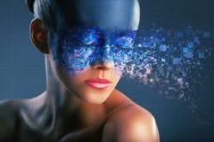 Digital makeup Stock Image