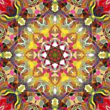 Digital-Malerei-Zusammenfassung bunte Blumen-Mandala Background stock abbildung