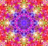 Digital-Malerei-Zusammenfassung bunte Blumen-Mandala Background lizenzfreie abbildung