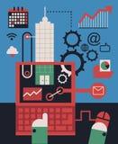 Digital-Management Lizenzfreies Stockbild