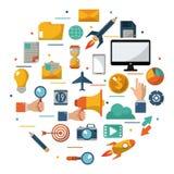 Digital marketing advertising optimize global business. Vector illustration Royalty Free Stock Image