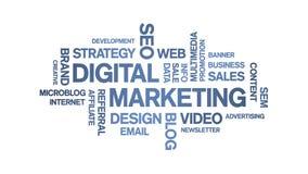 Digital Marketing Animated Tag Word Cloud,Text Design Animation seamless loop.
