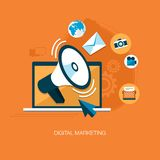 Digital marketing background vector illustration