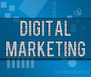 Digital-Marketing-binäres Geschäfts-Thema Lizenzfreie Stockfotografie