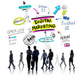 Digital Marketing Branding Strategy Online Media Concept.  stock image