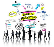 Digital Marketing Branding Strategy Online Media Concept Stock Photos