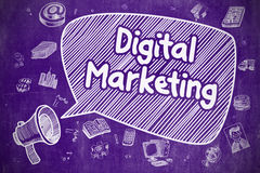Digital Marketing - Business Concept. Stock Image