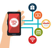 Digital marketing business design. Royalty Free Stock Image