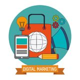 Digital marketing business network website. Vector illustration eps 10 Stock Image