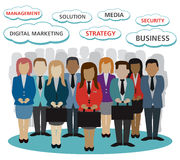 Digital marketing business peoples. Related vector version 10 Stock Images