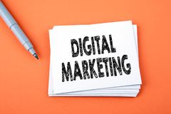 Digital Marketing. Business, technology Concept royalty free stock photos