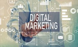 Digital Marketing with businessman royalty free stock photo
