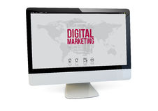 Digital marketing computer Stock Photos
