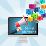 Digital Marketing Concept Background Royalty Free Stock Image