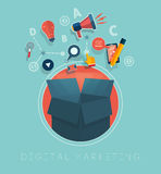 Digital marketing concept Stock Photography