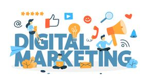 Digital marketing concept royalty free illustration