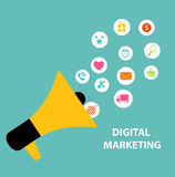 Digital Marketing Concept for Different Electronic Royalty Free Stock Photos