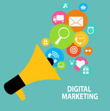 Digital Marketing Concept for Different Electronic Royalty Free Stock Image