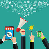 Digital marketing concept. Stock Image