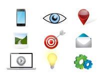 digital marketing concept icon set Royalty Free Stock Photos