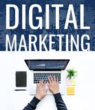 Digital marketing concept ideas Royalty Free Stock Photography