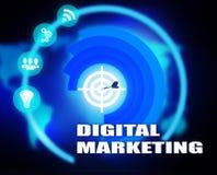 Digital Marketing concept plan graphic. Background Stock Image