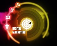 Digital Marketing concept plan graphic. Background Stock Photography