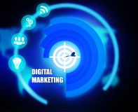 Digital Marketing concept plan graphic. Background Royalty Free Stock Photography
