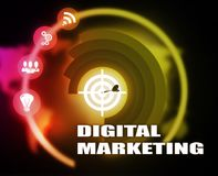 Digital Marketing concept plan graphic. Background Stock Photos
