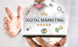 Digital Marketing Concept With Smart Phone Stock Photo