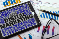 Digital marketing concept Royalty Free Stock Photography