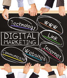 DIGITAL MARKETING concept words Stock Images