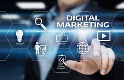 Digital Marketing Content Planning Advertising Strategy concept.  Stock Photography