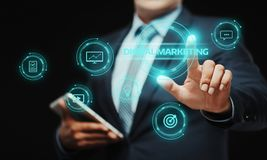 Digital Marketing Content Planning Advertising Strategy concept.  Stock Photos