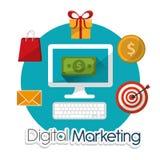 Digital-Marketing-Design Stockbild