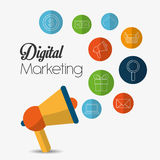 Digital-Marketing-Design Lizenzfreie Stockfotografie