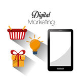 Digital-Marketing-Design Stockfotografie