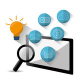 Digital-Marketing-Design Lizenzfreie Stockfotos