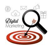 Digital-Marketing-Design Lizenzfreies Stockbild