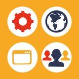 Digital marketing design. Digital marketing concept  with online icons design, vector illustration 10 eps graphic Stock Image