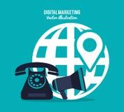 Digital marketing design Stock Image